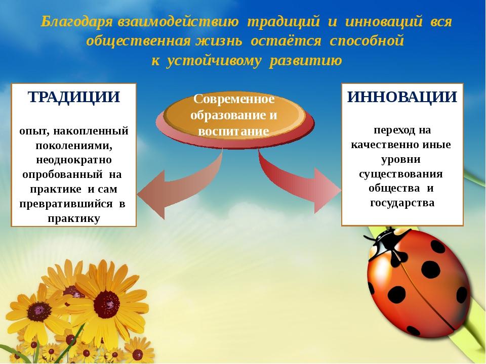 Два полюса мира образования Современное образование и воспитание ТРАДИЦИИ опы...