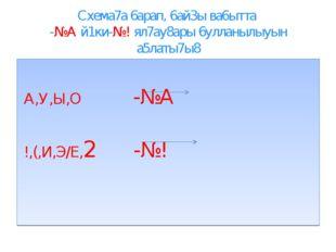 Схема7а 6арап, 6ай3ы ва6ытта -№А й1ки-№! ял7ау8ары 6улланылыуын а5латы7ы8 А,У