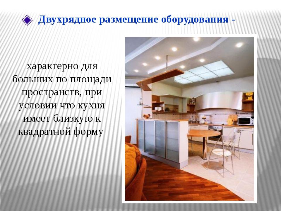 характерно для больших по площади пространств, при условии что кухня имеет...