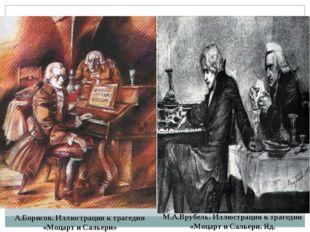 А.Борисов. Иллюстрация к трагедии «Моцарт и Сальери» М.А.Врубель. Иллюстрация