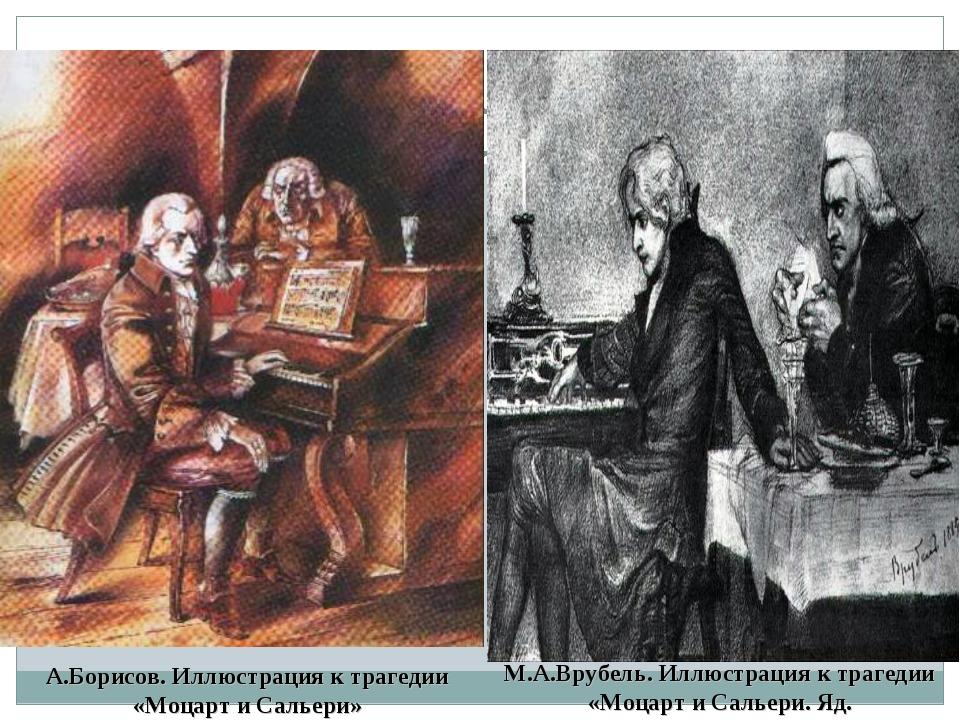 А.Борисов. Иллюстрация к трагедии «Моцарт и Сальери» М.А.Врубель. Иллюстрация...