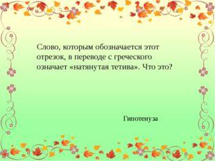 Слово, которым обозначается этот отрезок, в переводе с греческого означает «н