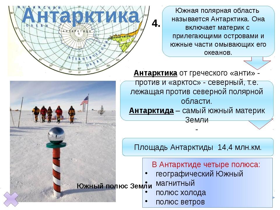 Антарктика Южная полярная область называется Антарктика. Она включает матери...