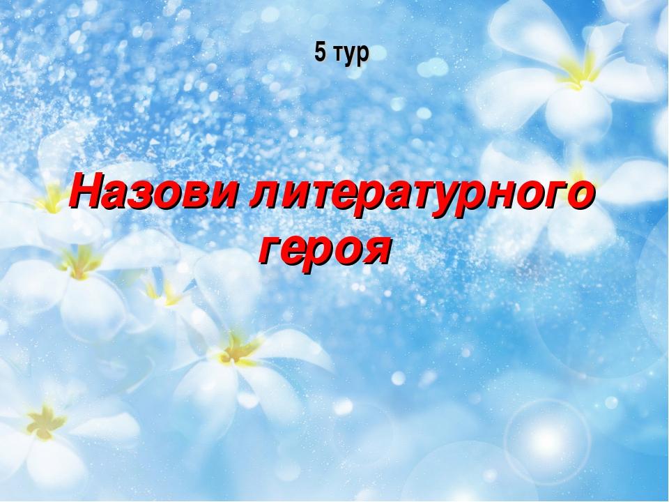 5 тур Назови литературного героя