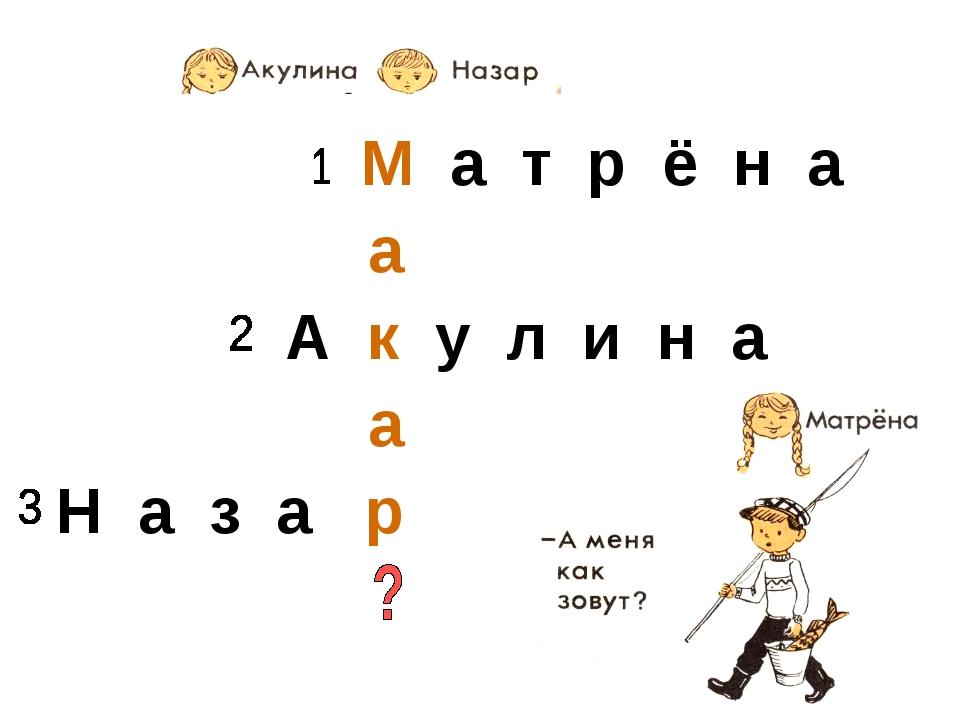 М а т р ё н а А к у л и н а Н а з а р а а