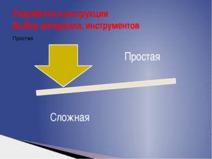 Разработка конструкции Выбор материала, инструментов