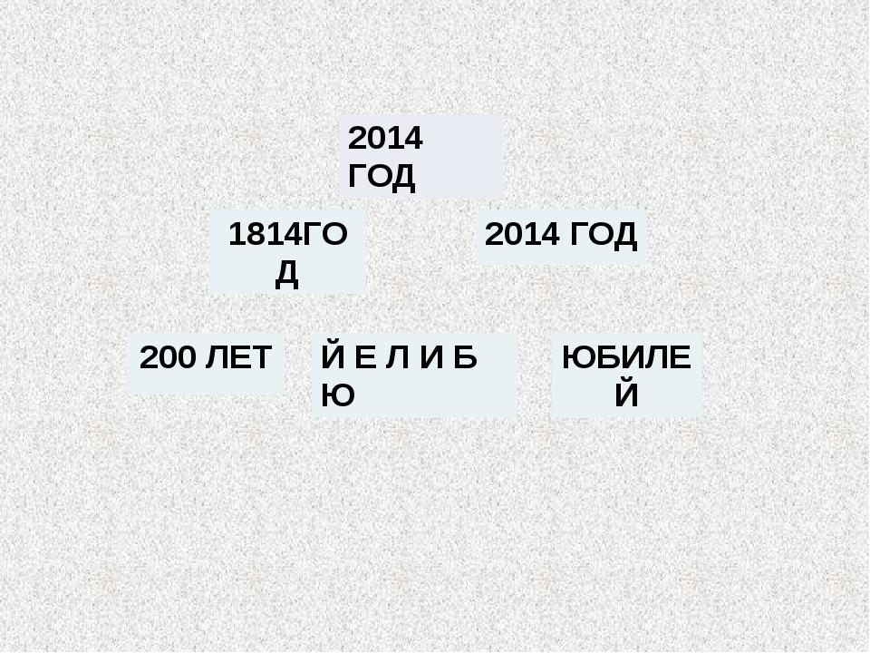 2014 ГОД 1814ГОД 2014 ГОД ЮБИЛЕЙ 200 ЛЕТ Й Е Л И Б Ю