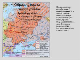 Походы киевских князей в конце Х - первой половине XI в. Походы киевских княз