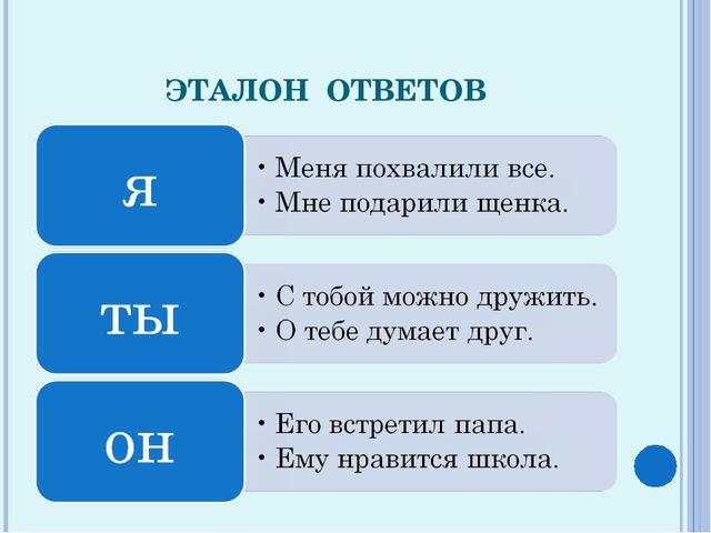 ЭТАЛОН ОТВЕТОВ