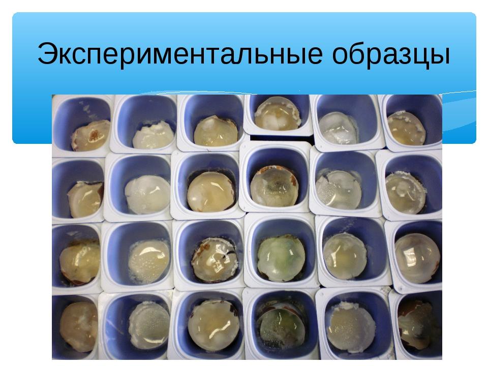 Экспериментальные образцы