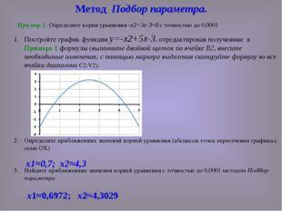 Постройте график функции у=-х2+5х-3, отредактировав полученные в Примере 1 фо