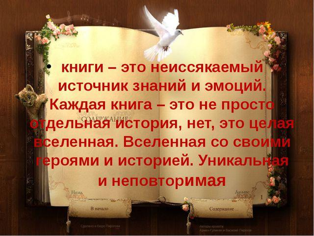 книги – это неиссякаемый источник знаний и эмоций. Каждая книга – это не прос...
