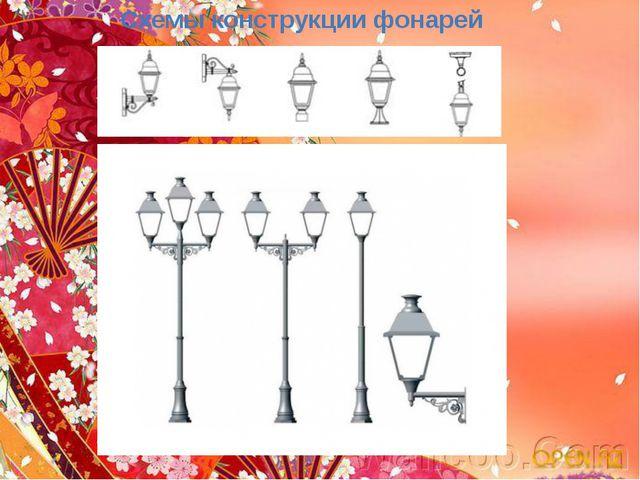 Схемы конструкции фонарей