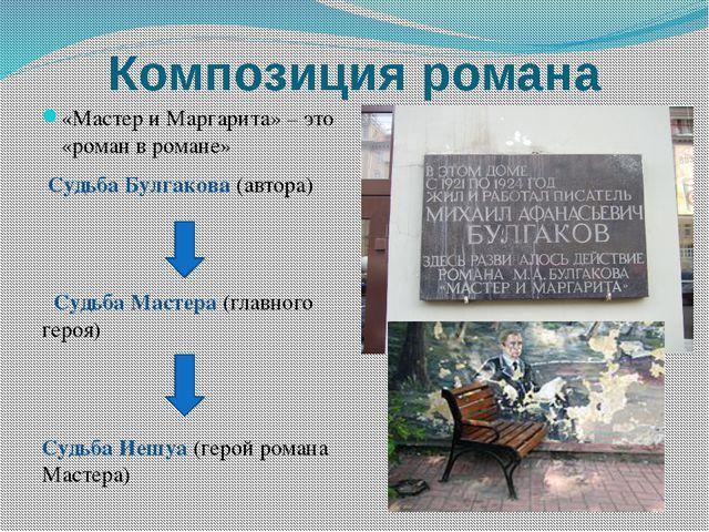 Композиция романа «Мастер и Маргарита» – это «роман в романе» Судьба Булгаков...