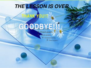 THE LESSON IS OVER! THANK YOU!!! GOODBYE!!!