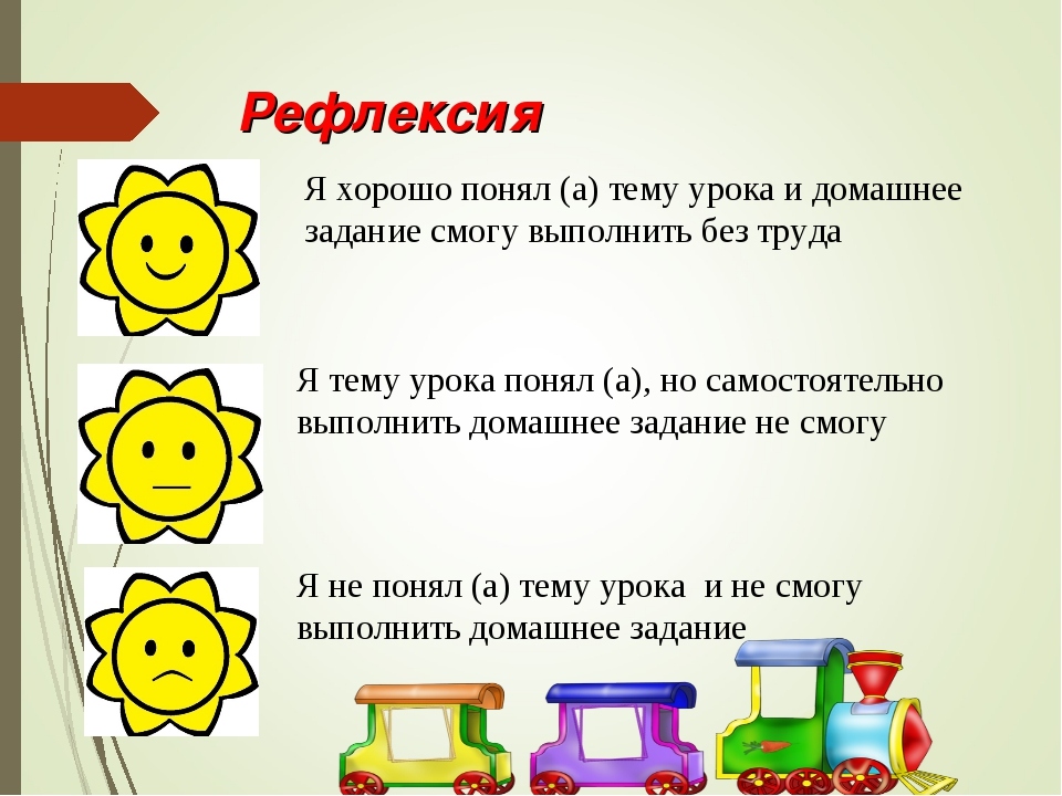 Рефлексия Я хорошо понял (а) тему урока и домашнее задание смогу выполнить бе...
