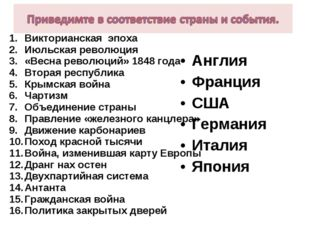 Викторианская эпоха Июльская революция «Весна революций» 1848 года Вторая рес