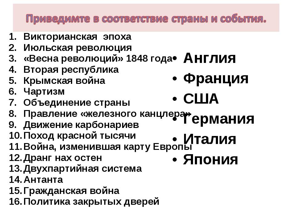 Викторианская эпоха Июльская революция «Весна революций» 1848 года Вторая рес...