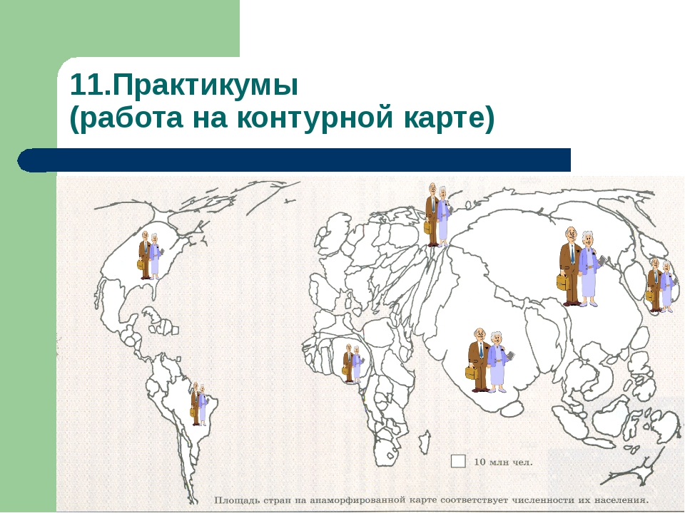 11.Практикумы (работа на контурной карте)