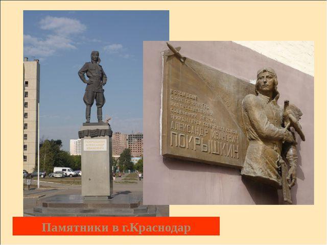 Памятники в г.Краснодар