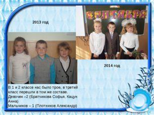 В 1 и 2 классе нас было трое, в третий класс перешли в том же составе. Девоч