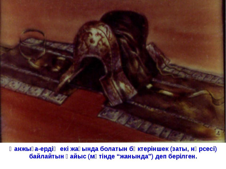 Қанжыға-ердің екі жағында болатын бөктеріншек (заты, нәрсесі) байлайтын қайыс...