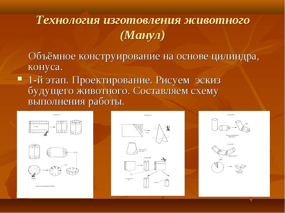 Технология изготовления животного (Манул) Объёмное конструирование на основе...