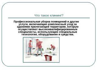Что такое клининг? Профессиональная уборка помещений и другие услуги, включаю