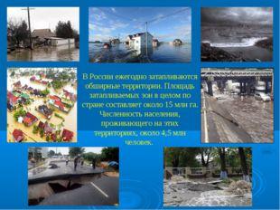 В России ежегодно затапливаются обширные территории. Площадь затапливаемых зо