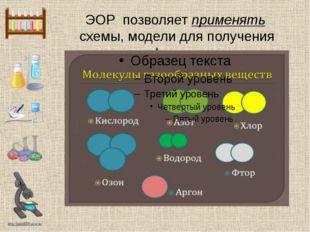 ЭОР позволяет применять схемы, модели для получения информации http://linda60