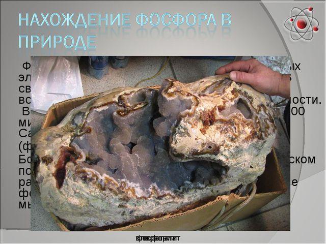Фосфор - один из наиболее распространённых элементов в земной коре (0,093% п...