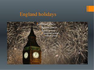 England holidays