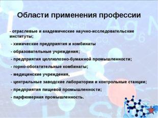 Учебные заведения, обучающие по данной специальности «Химическая технология о