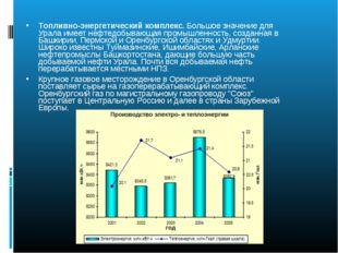 Топливно-энергетический комплекс. Большое значение для Урала имеет нефтедобыв