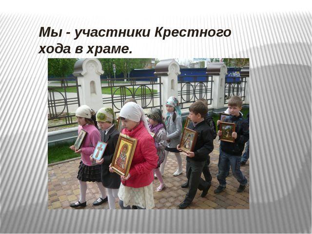 Мы - участники Крестного хода в храме.