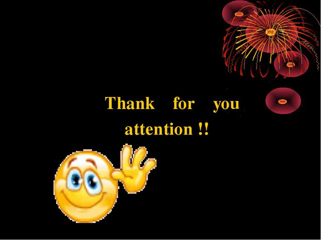 Thank for you attention !!