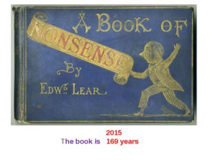 2015 The book is 169 years