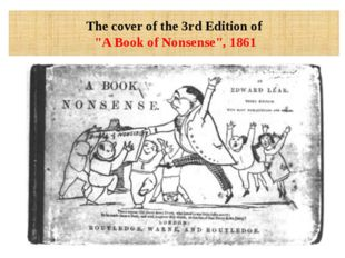 """The cover of the 3rd Edition of """"A Book of Nonsense"""", 1861"""