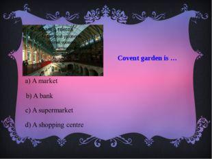 Covent garden is …