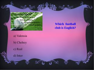 Which football club is English?