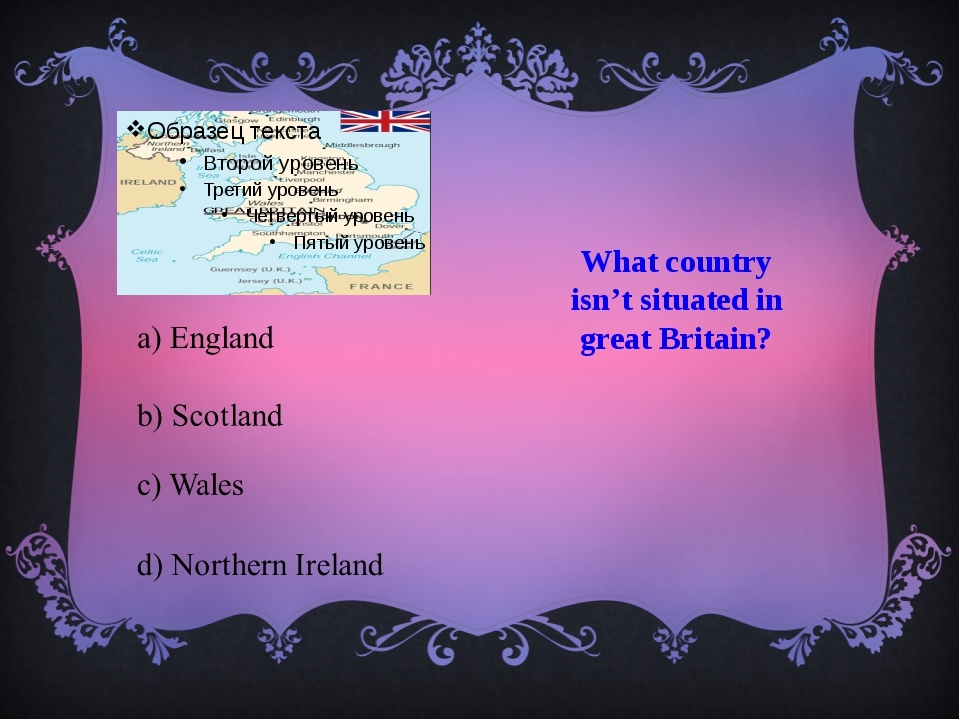 What country isn't situated in great Britain?