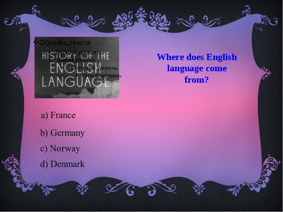 Where does English language come from?