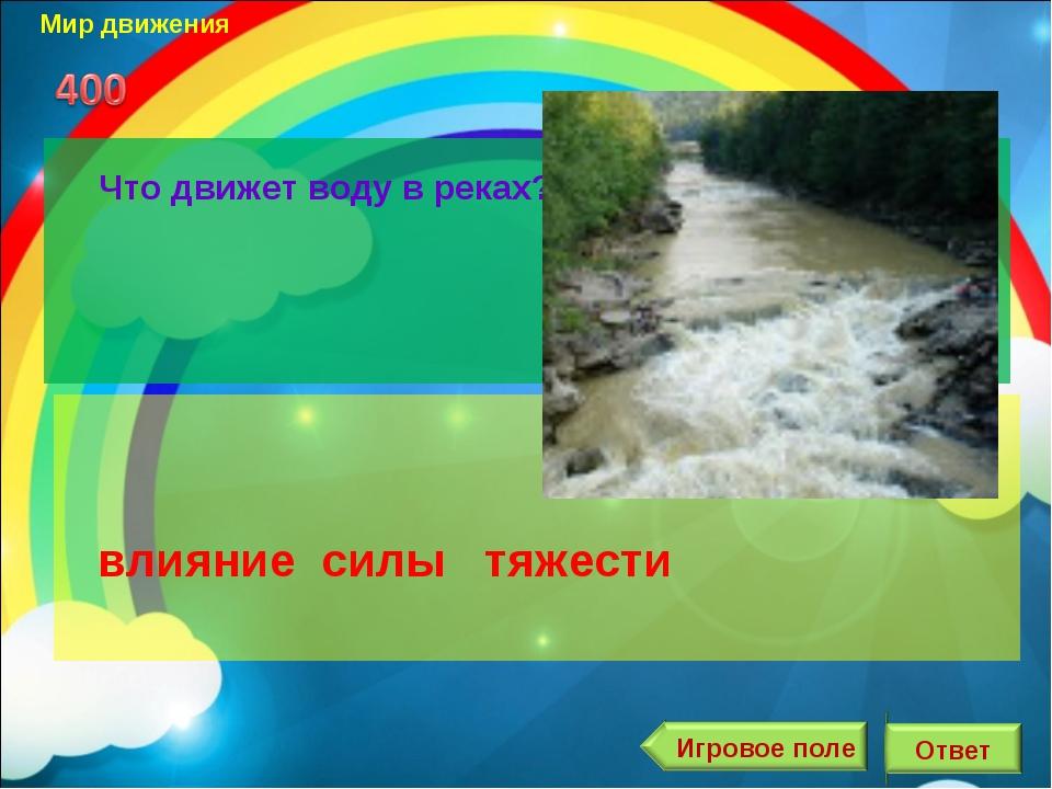 Мир движения Что движет воду в реках?