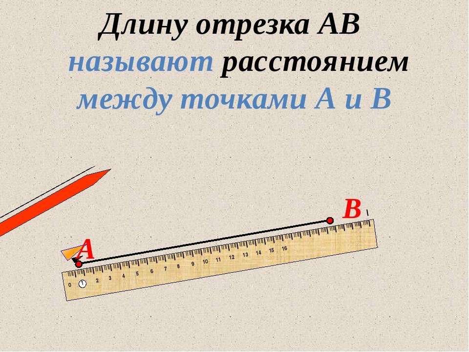 Длину отрезка АВ называют расстоянием между точками А и В 13.07.2012 www.kons...