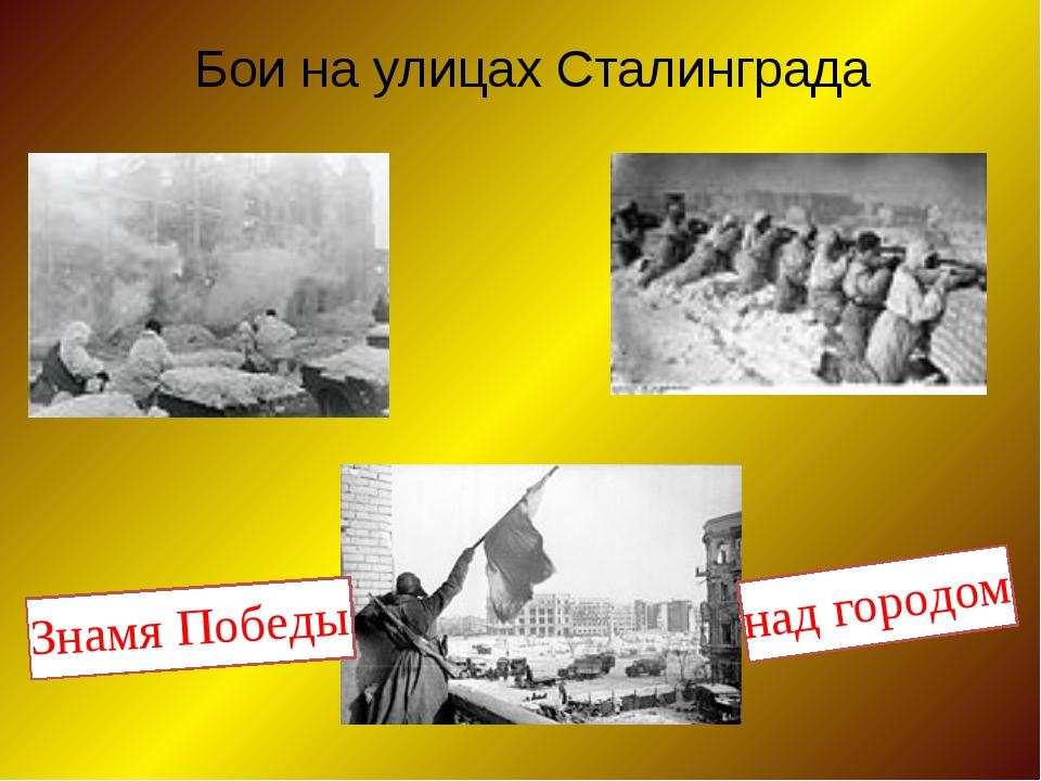 Бои на улицах Сталинграда Знамя Победы над городом