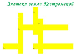 Знатоки земли Костромской 3. 1. 4.