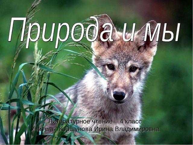 Литературное чтение 4 класс Учитель: Коршунова Ирина Владимировна
