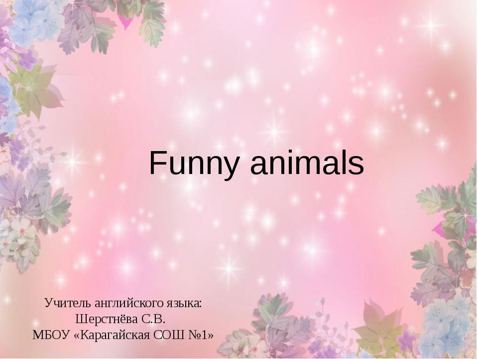 Funny animals Учитель английского языка: Шерстнёва С.В.  МБОУ «Карагайская С...
