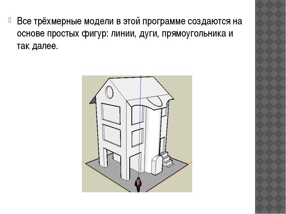 Все трёхмерные модели в этой программе создаются на основе простых фигур: лин...