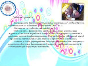 Задачи проекта: -Инициировать благотворительный сбор северных ягод среди пед